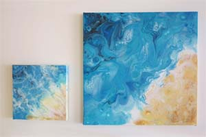 EWD Acrylic Fluid Painting CarriesBeach th