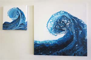 EWD Acrylic Fluid Painting CarriesWave th