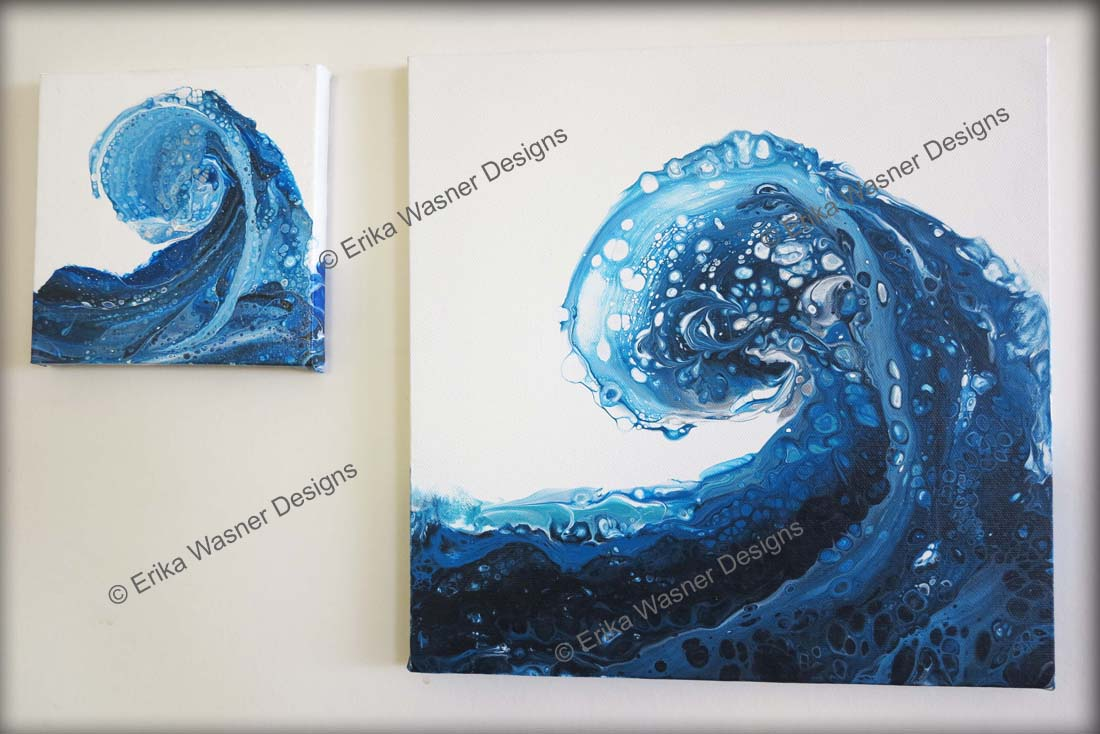 EWD Acrylic Fluid Painting CarriesWave