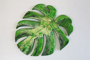 EWD Acrylic Fluid Painting Philodendron th