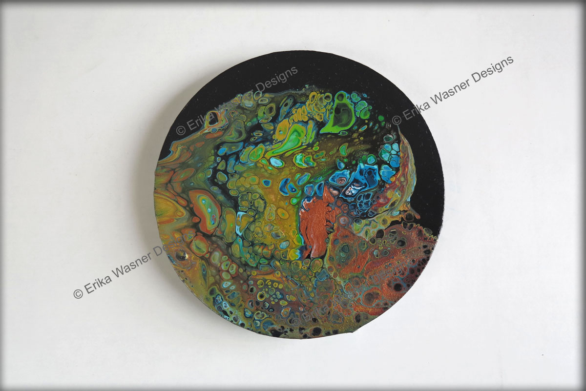 EWD Klimt Colors Circle Canvas
